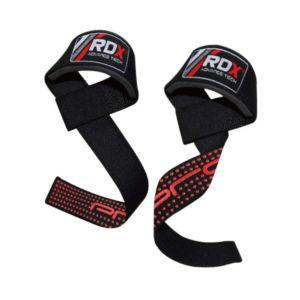 [英國 RDX] 防滑材質⾼質感助⼒帶-黑橘(重訓/舉重/硬舉適用)