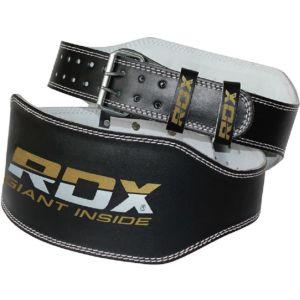 [英國RDX] 4吋 重訓健身真皮腰帶-黑金