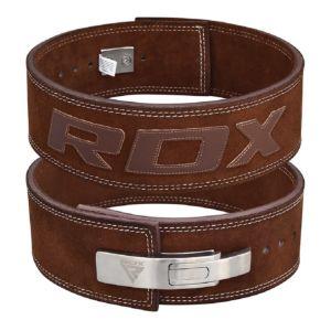 [英國RDX] 10mm全真牛皮健身快扣腰帶(重訓/舉重適用)-咖 M