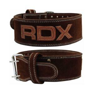 [英國RDX] 10mm全真牛皮健身腰帶(重訓/舉重適用)-咖 M
