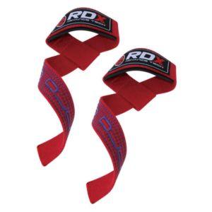 [英國 RDX] 防滑材質⾼質感助⼒帶-紅(重訓/舉重/硬舉適用)