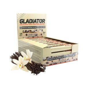 [波蘭 Olimp] Gladiator 牛奶蛋白棒-白巧克力香草 (15條/盒)
