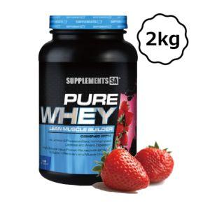 [南非 SUPPLEMENTS SA] 純乳清蛋白粉-草莓 (2kg/罐)