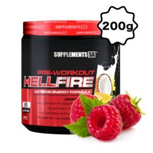 [南非 SUPPLEMENTS SA] Hellfire 訓練前營養補充食品-覆盆子(200g/罐)