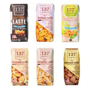 [137 degrees] 堅果奶6入嚐鮮組 (180ml/罐)
