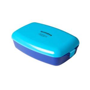 [瑞典 Frozzypack] 隨⾝保冷餐盒-⽔藍-藍 (1200ml)