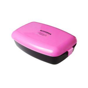 [瑞典 Frozzypack] 隨⾝保冷餐盒-粉紅-⿊ (1200ml)