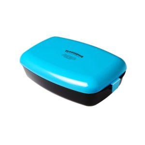 [瑞典 Frozzypack] 隨⾝保冷餐盒-⽔藍-⿊ (1200ml)