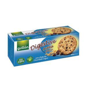 [西班牙Gullon榖優] 燕麥黑巧克力豆消化餅  (425g/盒)