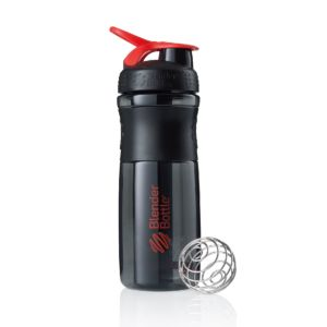 [Blender Bottle] SportMixer Grip(830ml/28oz)-黑艷紅
