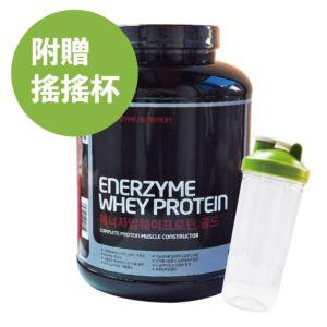 [韓國 Enerzyme] 黃金比例綜合蛋白粉-巧克力 (3kg/罐) (附湯匙、搖搖杯)