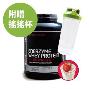 [韓國 Enerzyme] 黃金比例綜合蛋白粉-草莓優格 (3kg/罐) (附湯匙、搖搖杯)