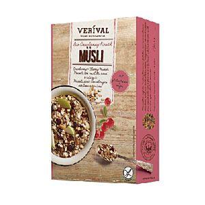 [即期品] [Verival費里歐] 無麩質有機蔓越莓與櫻桃穀物麥片 (300g/盒)