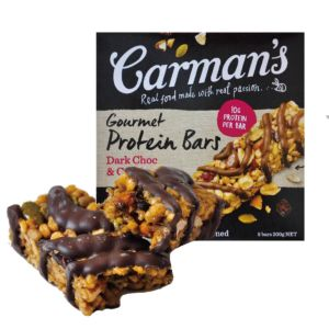 [即期品] [澳洲 Carman's] 黑巧克力蔓越莓蛋白質棒(5條/盒) {效期: 2019-03-22}