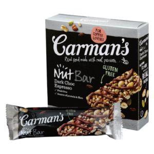 [澳洲 Carman's] 黑巧克力咖啡堅果棒 (5條/盒)