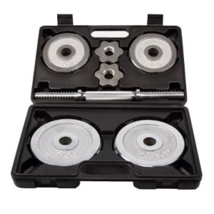 [ABsport] 電鍍10kg啞鈴組(贈收納盒)