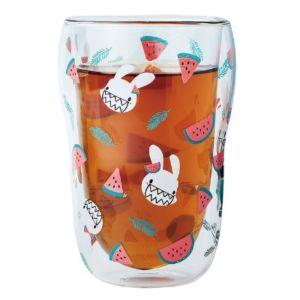 [Foufou 瘋狂邦尼] 雙層玻璃瓜瓜杯