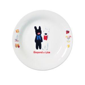 [Gaspard et Lisa 麗莎和卡斯柏] 點心盤 (排排站/日本製)