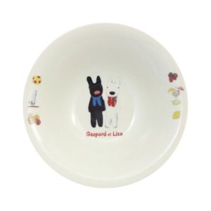 [Gaspard et Lisa 麗莎和卡斯柏] 麥片碗 (排排站/400ml/日本製)