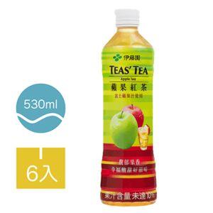 [伊藤園] 蘋果紅茶 (6入組/每罐530ml)