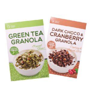 [Daily Boost日卜力]黑可可蔓越莓烤燕麥 (350g/盒) [Daily Boost]綠茶杏仁烤燕麥 (350g/盒)組合