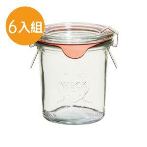 [德國 Weck] 742高筒圓玻璃罐 580ml (六入組/附玻璃蓋與密封配件)