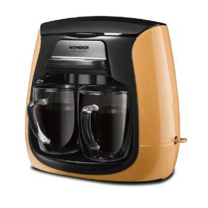 [Wonder旺德] 雙層玻璃杯雙人咖啡機WH-L04D (香橙橘)