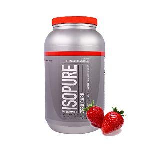 [美國 ISOPURE] 分離乳清-草莓奶霜(3磅/罐)