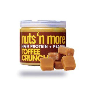 [美國 Nuts' n More] 顆粒太妃風味高蛋白花生醬(454g/罐)