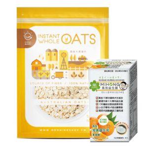 [腸道咕嚕組] 即食大燕麥(無添加糖)(500g/包)+ MIHONG® 高效益生菌-橘子風味