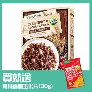 [米森] 有機蔓越莓可可脆麥片(350g/盒)