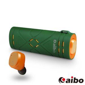 [台灣 Aibo]BTD01 運動版迷你雙耳藍牙耳機-綠橘
