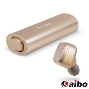 [台灣 Aibo] BTD01 鋁合金迷你雙耳藍牙耳機-金色