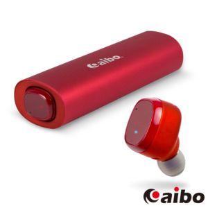 [台灣 Aibo] BTD01 鋁合金迷你雙耳藍牙耳機-紅色
