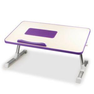 [台灣 Aibo] 多功能折疊電腦散熱桌-紫色