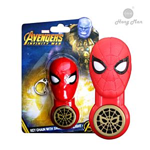 [CAMINO] 復仇者聯盟系列 蜘蛛人 手電筒鑰匙圈