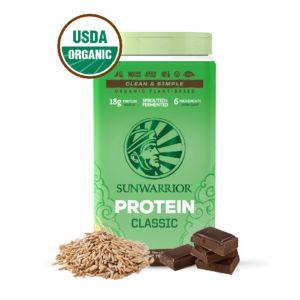 [美國 SUNWARRIOR] 有機純素糙米蛋白-巧克力(750g/罐)