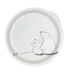 [Dr. Si] 白金級矽膠巧力碗 (北極熊花樣/單蓋組)