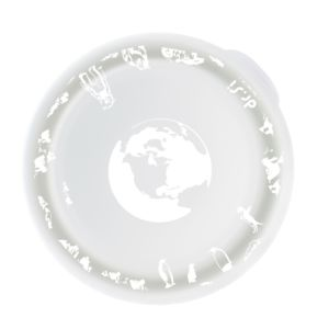 [Dr. Si] 白金級矽膠巧力碗 (愛地球花樣/單蓋組)