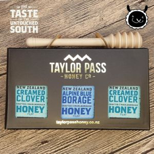 [紐西蘭TaylorPass] 混裝蜂蜜禮盒(琉璃苣x1三葉草x2) (375g x 3瓶)