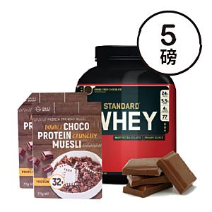 [組合商品] ON雙倍巧克力(5磅/罐)+Daily Boost雙倍可可蛋白酥脆穀物(375g/盒*2)
