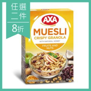 [瑞典 AXA] 綜合水果堅果穀物麥片 (375g)