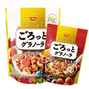 [日清Nissin] 買大送小組合-草莓早餐麥片(500g)+奢華楓糖水果麥片(200g)