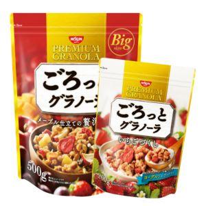 [日清Nissin] 買大送小組合-奢華楓糖水果麥片(500g)+草莓早餐麥片(200g)