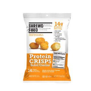 [美國 Shrewd Food] 低碳高蛋白泡芙-切達起司(21g/包)