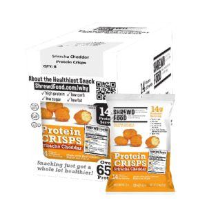 [美國 Shrewd Food] 低碳高蛋白泡芙-是拉差辣味切達起司(21g*8包入)