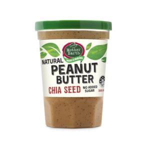 [紐西蘭 Mother Earth] 超級奇亞籽花生醬(無添加糖) (380g/罐)