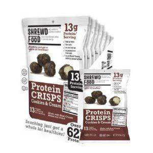 [美國 Shrewd Food] 低碳高蛋白泡芙-巧克力奶霜(21g*8包入)