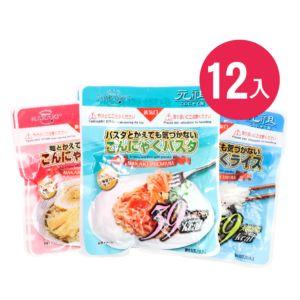 [日本 NAKAKI] 蒟蒻纖食米、義大利麵、拉麵MIX12入組(180gx12)