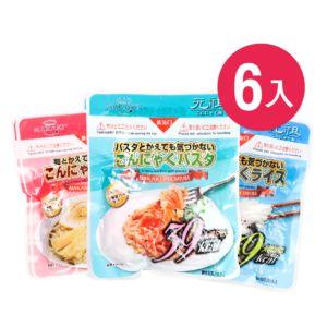[日本 NAKAKI] 蒟蒻纖食米、義大利麵、拉麵MIX六入組(180gx6)